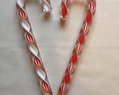 Glass Candy Cane Ornaments Set of 2