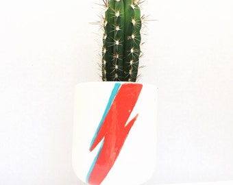 Bowie Planter Lightening Bolt Planter Handmade