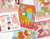 Fran & Anke Postcard Set / Love, Friendship and Valentines