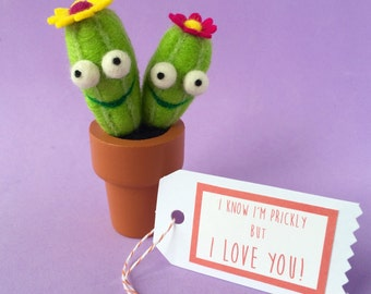 Cacti Pair with Your Choice of Message