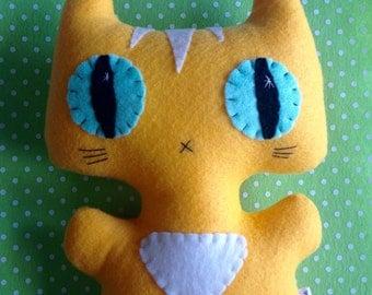 Big Siamese Minou Kitty - Eco-friendly Felt Plush Kitty