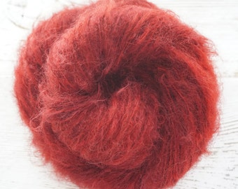 Mohair, Nylon, Wool, Worsted, Hand Dyed Yarn