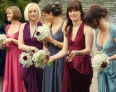 Reserved for Elle A Dresses Multiway Bridesmaids Dress in plus size- maternity- petite-  ALL CUSTOM made to measure purple plum wine marsala