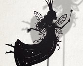 The Good Fairy/ Laser cut Shadow Puppet/ Fairy Tale Series