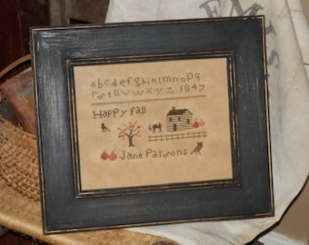 PriMiTiVe - - HappY FaLL - EaRLy LoOk CrOSs STiTcH  SamPLeR - - a MusT SeE