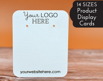 14 SIZES | Custom Earring Display Cards with Your Logo | Tag | Label