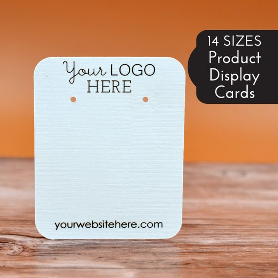 14 SIZES | Custom Earring Display Cards with Your Logo
