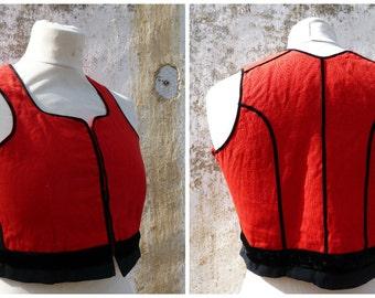 Vintage 1970/70s German / Austrian/Tyrol dirndl corset bustier top size XS/14 years