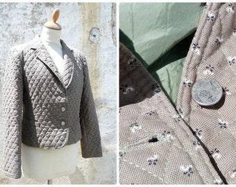 Vintage 1970/70s Austria Tyrol trachten dirndl quilted jacket size S