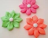 Erin Kanzashi Ribbon Flower - PDF Tutorial