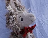 Fergus MacTavish, a Scottish llama, Storybook sewing pattern for stuffed toy, PDF, instant download