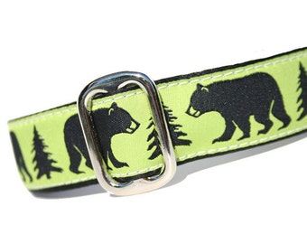 "Buckle Dog Collar 1"" Only - Black Bear"