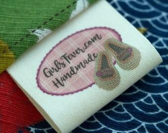 40mm Vintage cotton labels cloth labels cotton tags PRE-CUT 100 pcs