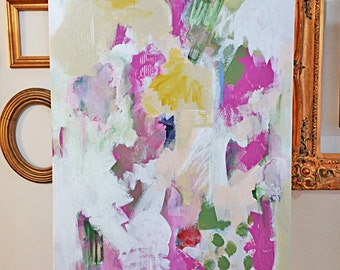 """original 24"""" x 36"""" abstract painting by Mary Kaiser"""
