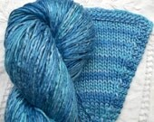 Silk Yarn - Hand Dyed Worsted weight - Shade: Cornflower (5)