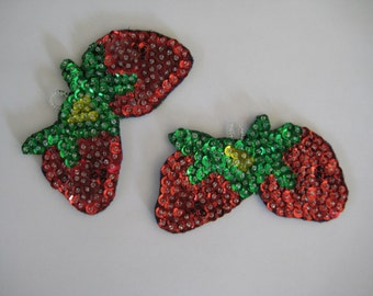 Ornaments, Strawberry felt and sequinned ornament