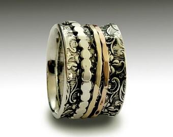 Eternity ring, Infinity ring, Stacking Ring, Silver wedding Band, boho Band, gypsy Ring, Silver Gold Band, boho Ring, hippie - Shine R1209H