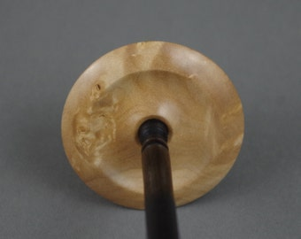 Tibetan style supported spindle in Maple burl