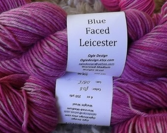 Blue faced Leicester Wool- Rose Pink 808