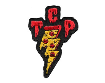 TCP Pizza Patch - Taking Care of Pizza Embroidered Patch