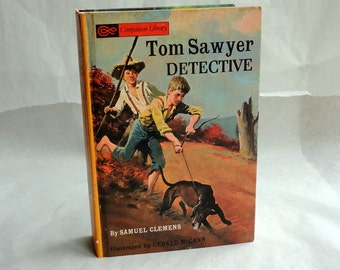 TOM SAWYER Twain Hollow Book Keepsake Box Vintage Book Cover Fake Book Secret Secret Stash Box Hidden Compartment Groomsman Wedding Wooden