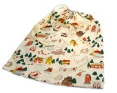 Large Christmas Gift Bag, Large Knitting Bag, Christmas Slippers, Alexander Henry