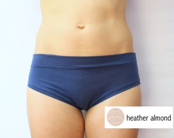 heather almond bamboo jersey panties / bamboo underwear / by replicca / size small / SALE