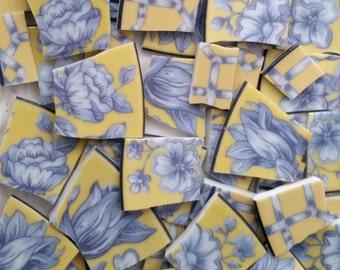 Mosaic tiles- Chateau Garden - Yellow 62 Tiles