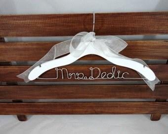 Custom Hangers Bridal Dress Hangers Personalized Hanger Photo Prop Bridal Accessories Wedding Dress Hangers Bride Hangers