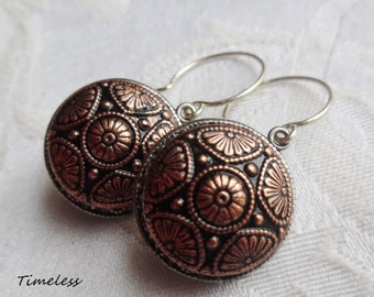 Vintage Button Earrings- Miranda