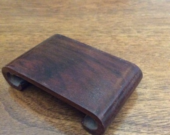 Vintage mini wooden stand for Asian or other figurines