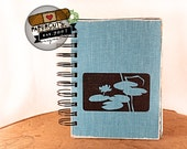 Frog Pond Friends - Wire-Bound Recycled Art Journal