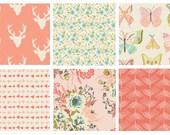 BUNDLE - Hello Bear - Forest Floor - Winged - Art Gallery Fabrics - Bonnie Christine - Deer Antlers Arrows Butterflies