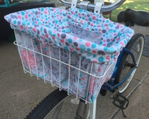 Dance of the Butterflies Bike Basket Liner and Purse in One
