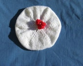 RESERVED FOR CAROLMOORE51-White and Red Tam for Child