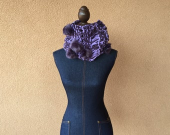 Purple Scarf Women Fashion Scarf Hand Knit Purple Fashion Scarf Accessories Women Scarf
