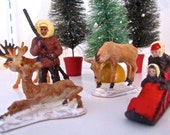 5 Plastic Christmasy Figures