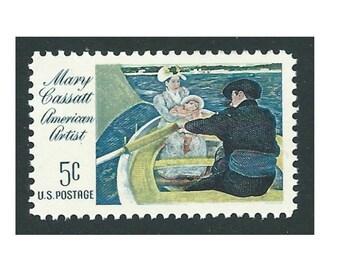 Pack of 20 stamps .. 5c Mary Cassatt American Artist .. Vintage Unused US Postage Stamps .. Impressionist art, gift for artist, art painting