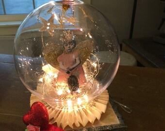 New  Online class Soldered snow globe online class, paper dolls collage solder