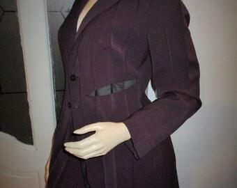 French Suit Vintage Maxi Suit Skirt Jacket 90's Pleated suit.