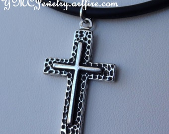Sterling Silver Cross Necklace, Cross Necklace, RCIA Present, Confirmation Necklace, Baptism Necklace, Men's Cross Necklace,Catholic Jewelry