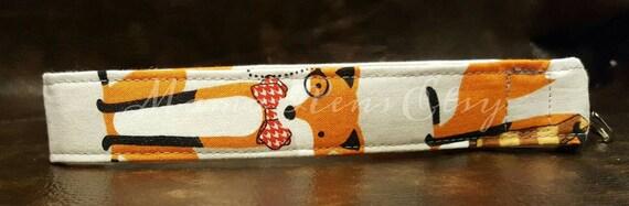 READY To SHIP Foxy A Wristlet Keychain