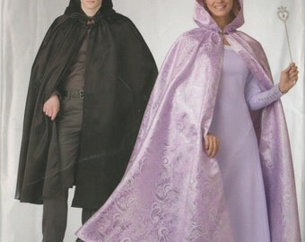 So Easy Hooded Cape for Misses or Men Unisex Pattern Simplicity 326 Size XS-XL  UNCUT