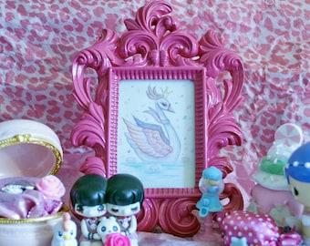 Swan Princess mini watercolor painting kids decor