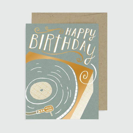 Birthday Card Happy Birthday Record Player