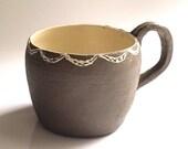 Doily mug - Ceramic mug - Coffee mug - tea mug