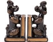 Ceramic Vintage Poodle Bookends