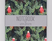 A5 Notebook - Galah Red - with Plain Pages