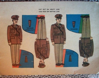 Vintage WWI Postcard of United States Army Military Various Uniforms Unposted