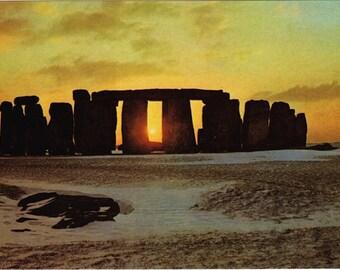 Vintage postcard, Stonehenge, Wiltshire, England, UK, 1979